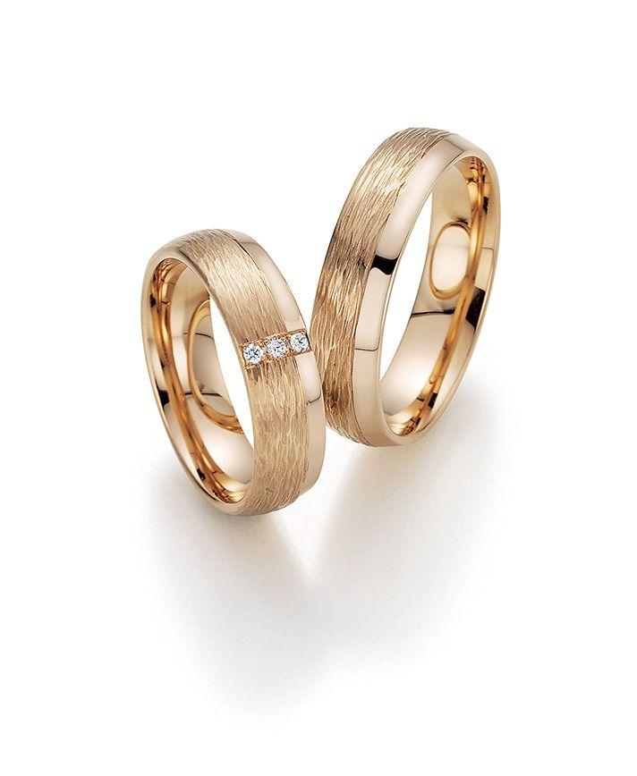 Trauringe hochzeit rotgold  Rotgoldene Trauringe von Fischer # Trauringe #Eheringe #wedding ...