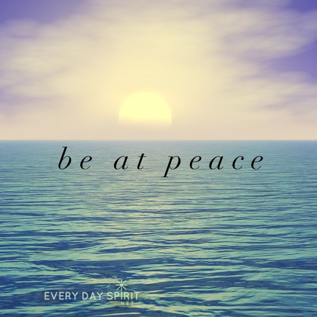Inspirational Quotes About Peace: Be At Peace Within. Xo Get The App Of Peaceful Wallpapers