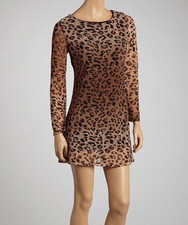 Toasted Golden Leopard Dress