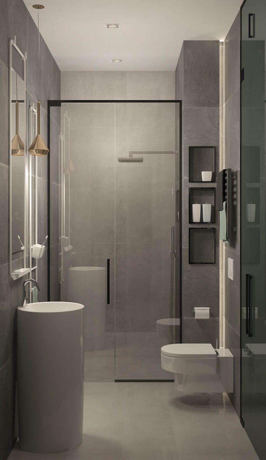 Design of the apartment for a young men | Toilet design ...