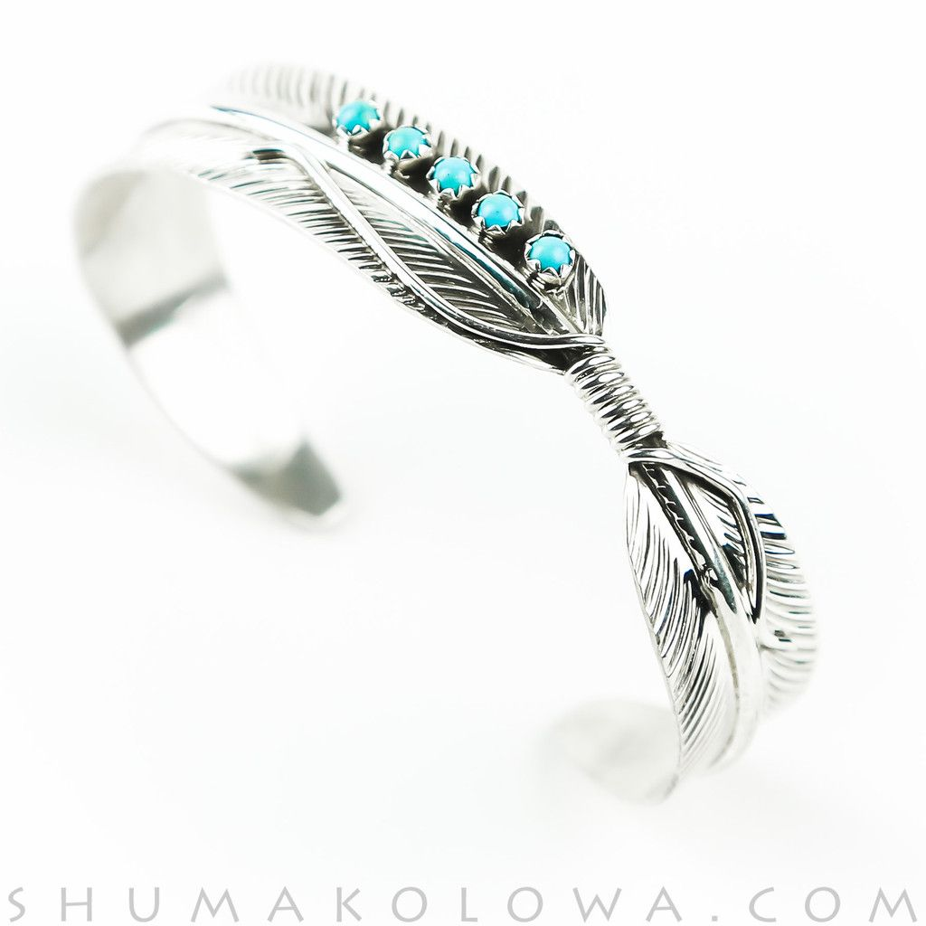 Navajo Turquoise Sterling Silver Feather Adjustable Women/'s Ring Charley