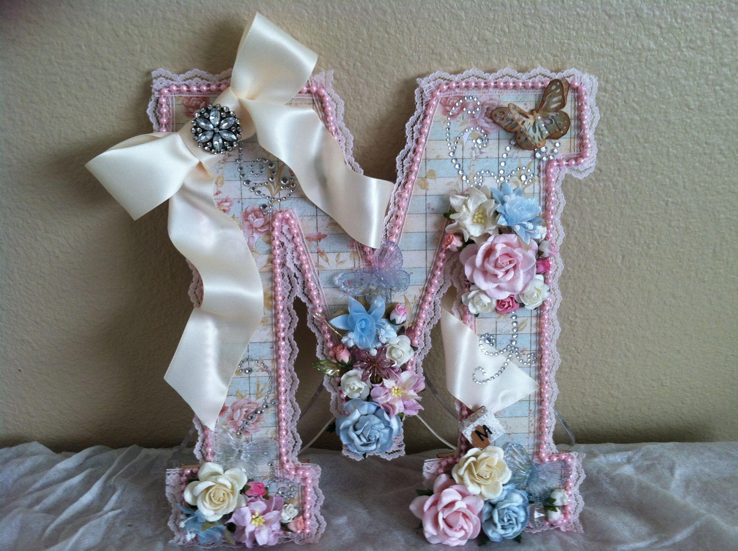 Altered Letter Swtlady1 On Yt Letter A Crafts Bling Crafts