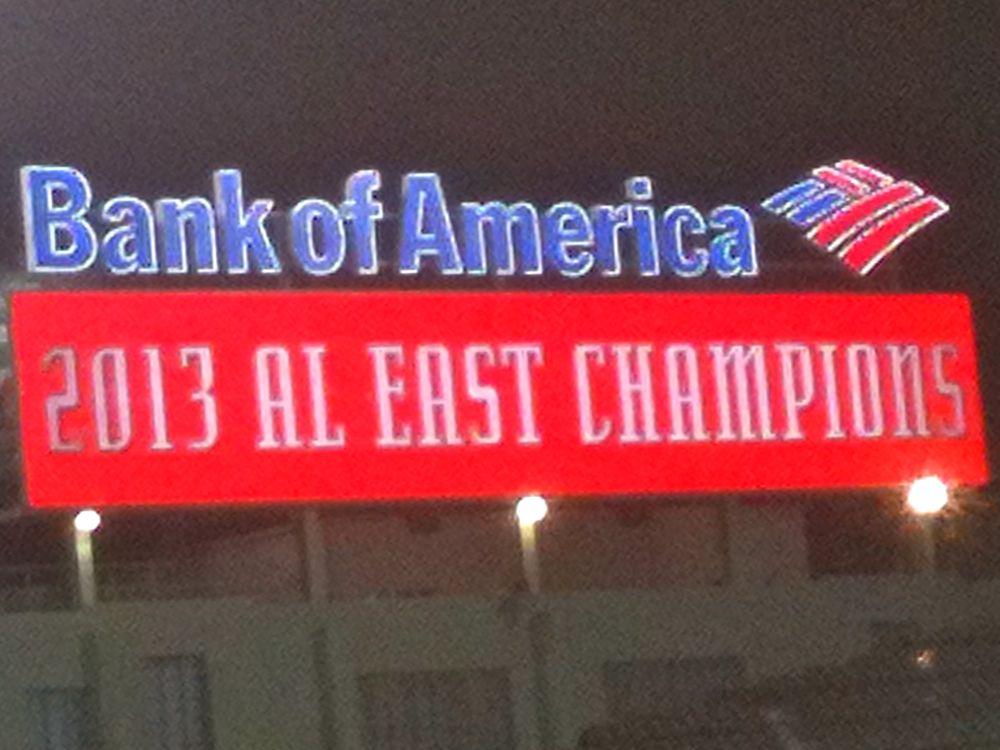 AL East Championship win in 2013