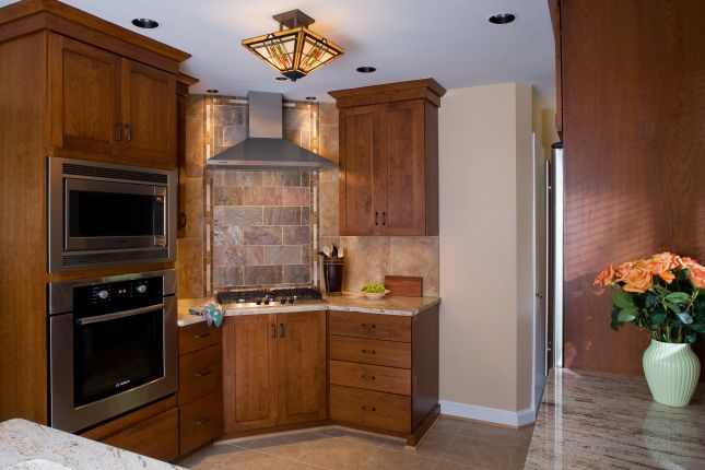 Kitchen backsplash and wall oven!