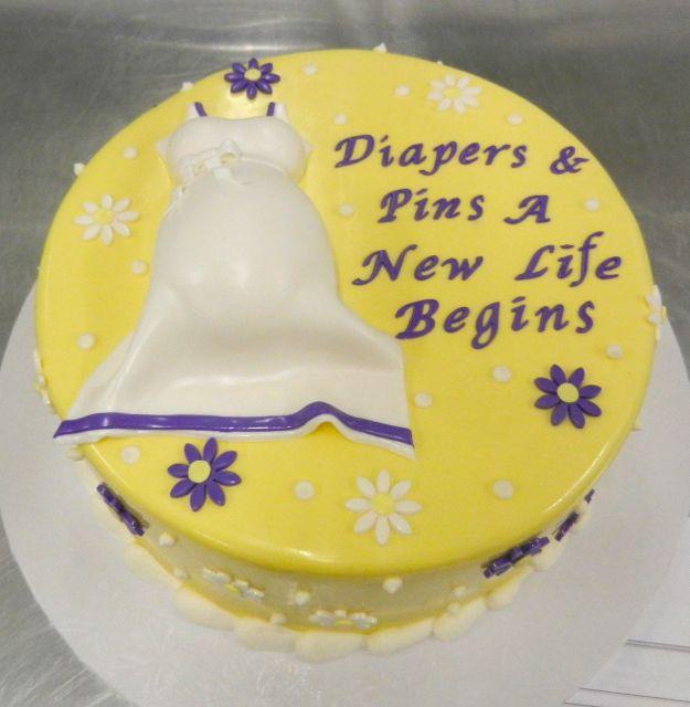 yellow baby shower cake  here comes baby    yellow, Baby shower invitation