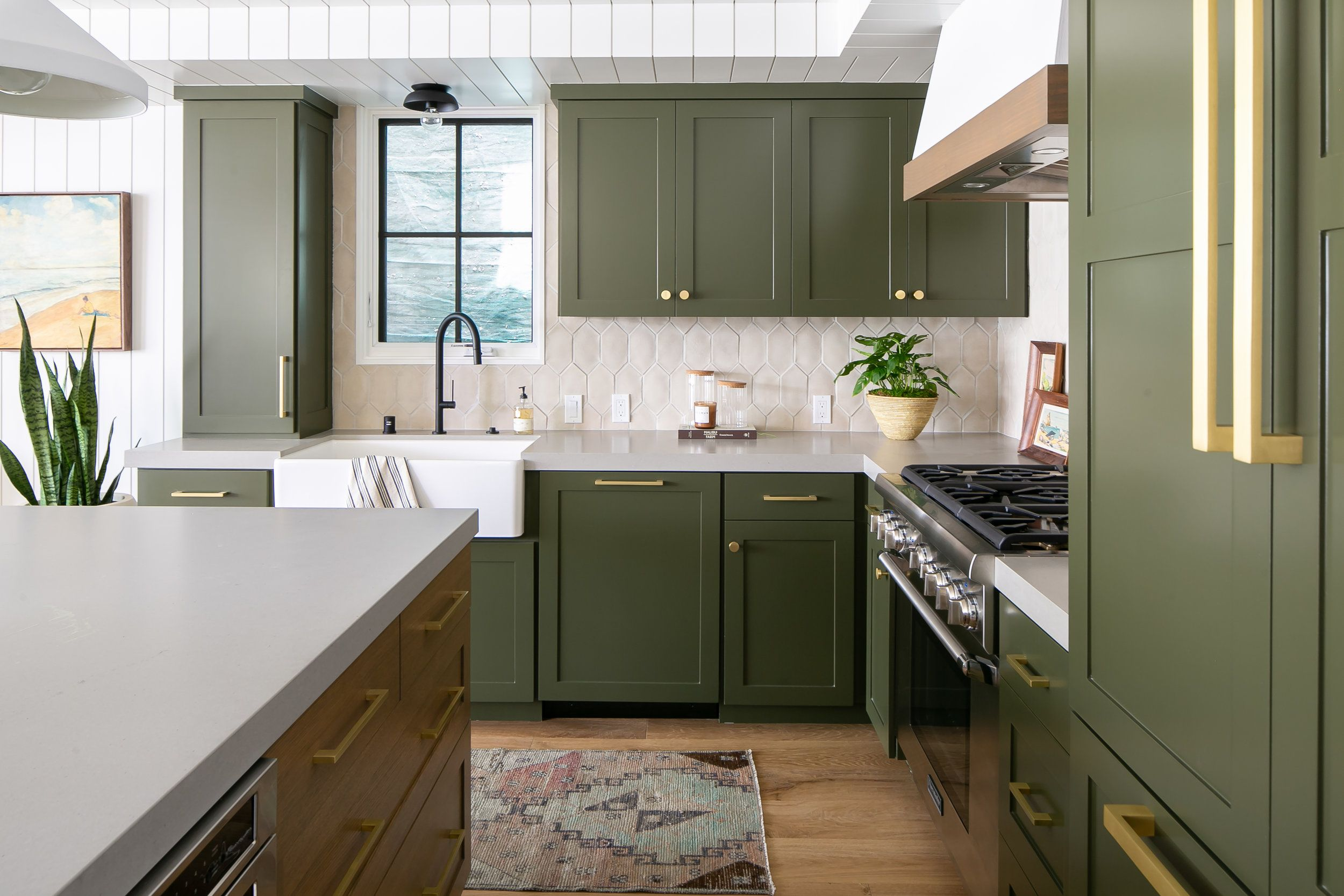 Calling It Olive Green Kitchens Will Be Everywhere In 2020 Hunker Green Kitchen Furniture Olive Green Kitchen Green Kitchen