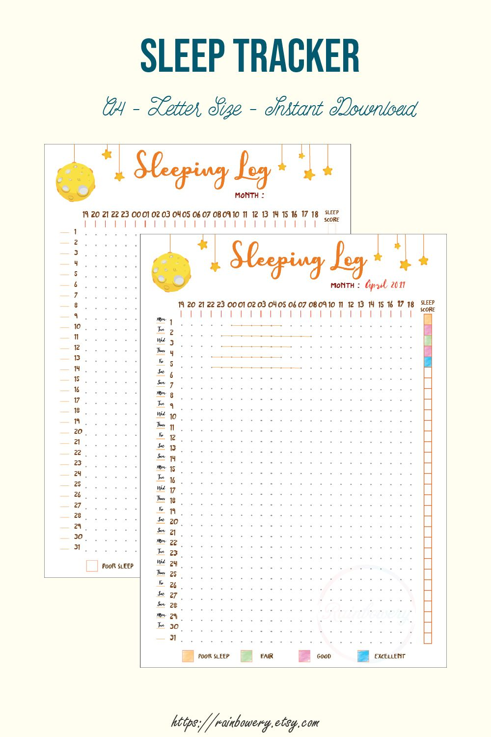 photograph relating to Sleep Log Printable known as Slumber Tracker Printable, Snooze Log, Slumber Routine, Slumber