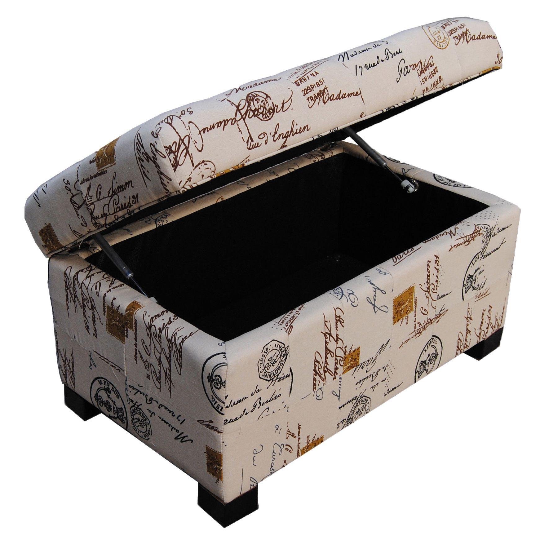 Amazing The Classic French Writing Aqua Postmark Storage Bench Uwap Interior Chair Design Uwaporg
