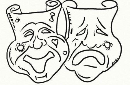 Disegni Da Colorare Gratis Per Carnevale.Due Maschere Da Carnevale Da Colorare Gratis Carnevale Maschere