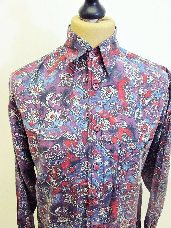 Vintage 70s awesome psychedelic floral paisley shirt small 70s vintage 70s awesome psychedelic floral paisley shirt small sciox Image collections