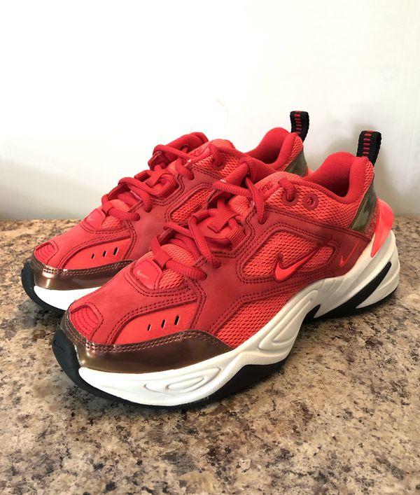 Nike M2k Tekno Women S Size 5 5 Sneakers Shoes University Red White Av7030 600 Shoes Sneakers Shoes Sneakers