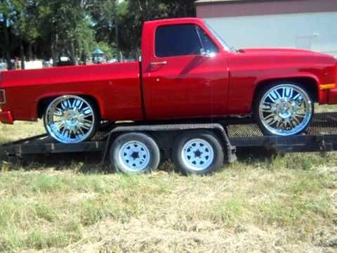 Chevy Short Bed Truck On 26 Quot Forgiatos Youtube With Images Trucks Chevy 85 Chevy Truck