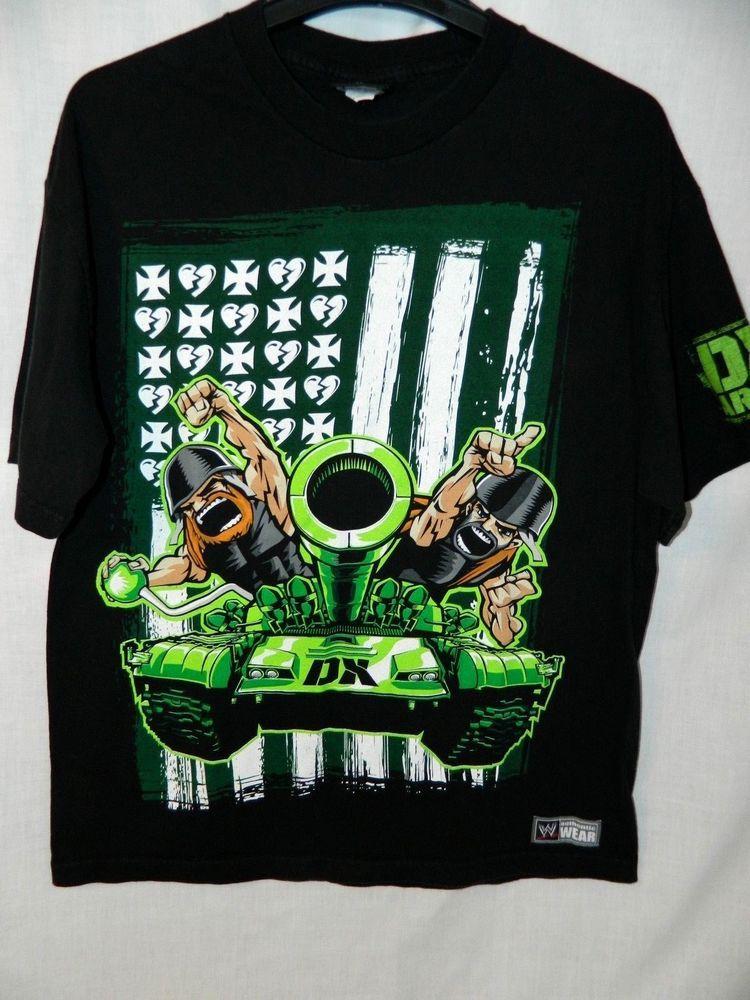 1223aae59 WWE DX Army World s Biggest Member Mens XL T Shirt Black D-Generation X WWF   WWFAuthentic