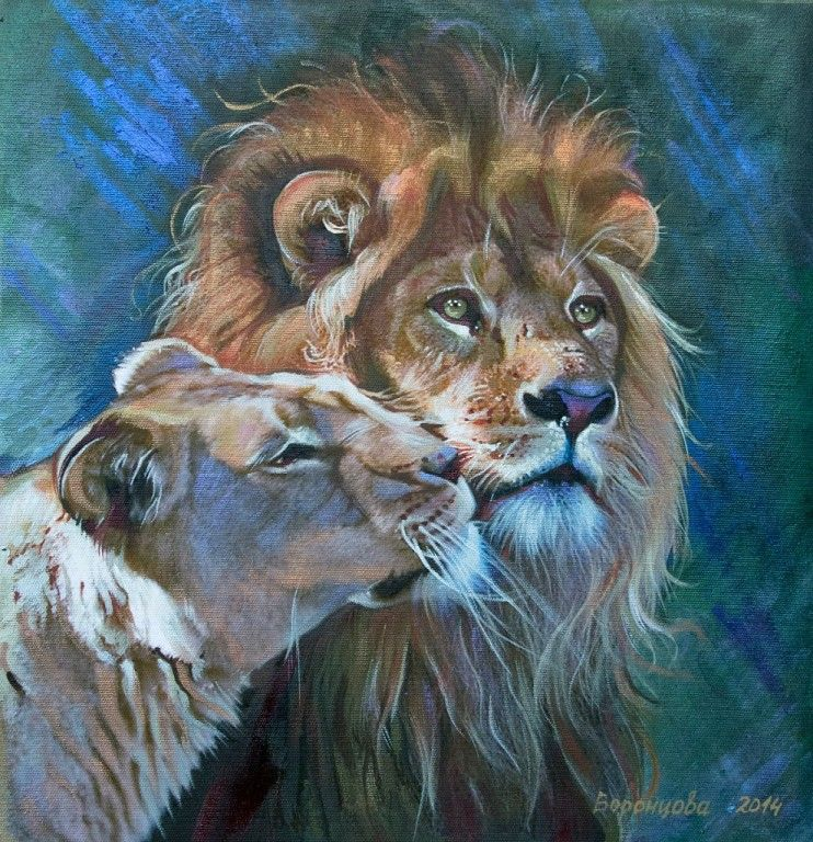 Лев и львица рисунки декораторам