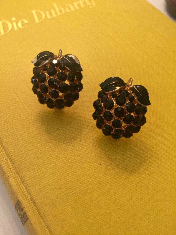 A personal favorite from my Etsy shop https://www.etsy.com/listing/492060503/vintage-bsk-signed-black-rhinstone-fruit