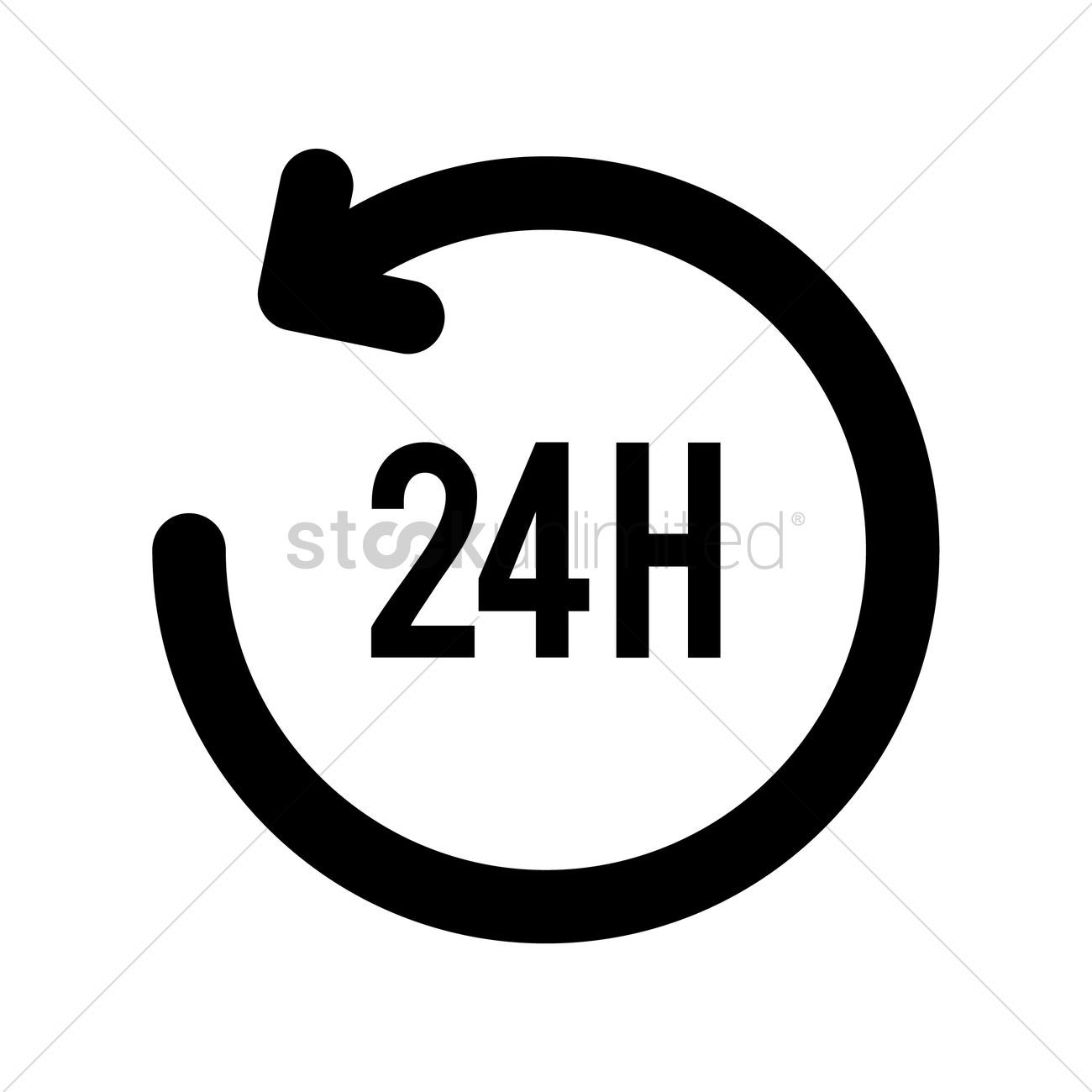 24 hour icon vector illustration