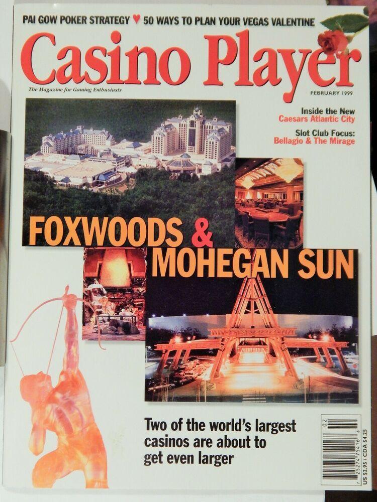 CASINO PLAYER MAGAZINE FEBRUARY 1999; FOXWOODS / MOHEGAN