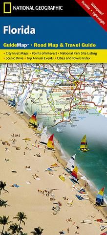 Map Of Florida Towns.Florida Guidemap By National Geographic Maps Pinterest