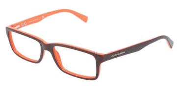 ef3393e64adf Dolce   Gabbana Eyeglasses DG3148P-2632 Top Brown On Orange Demo Lens