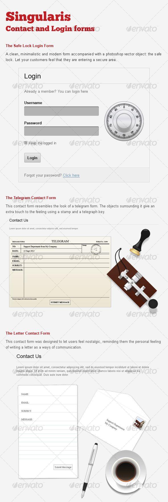 Cool log-in form with safe lock image | Digital Marketing