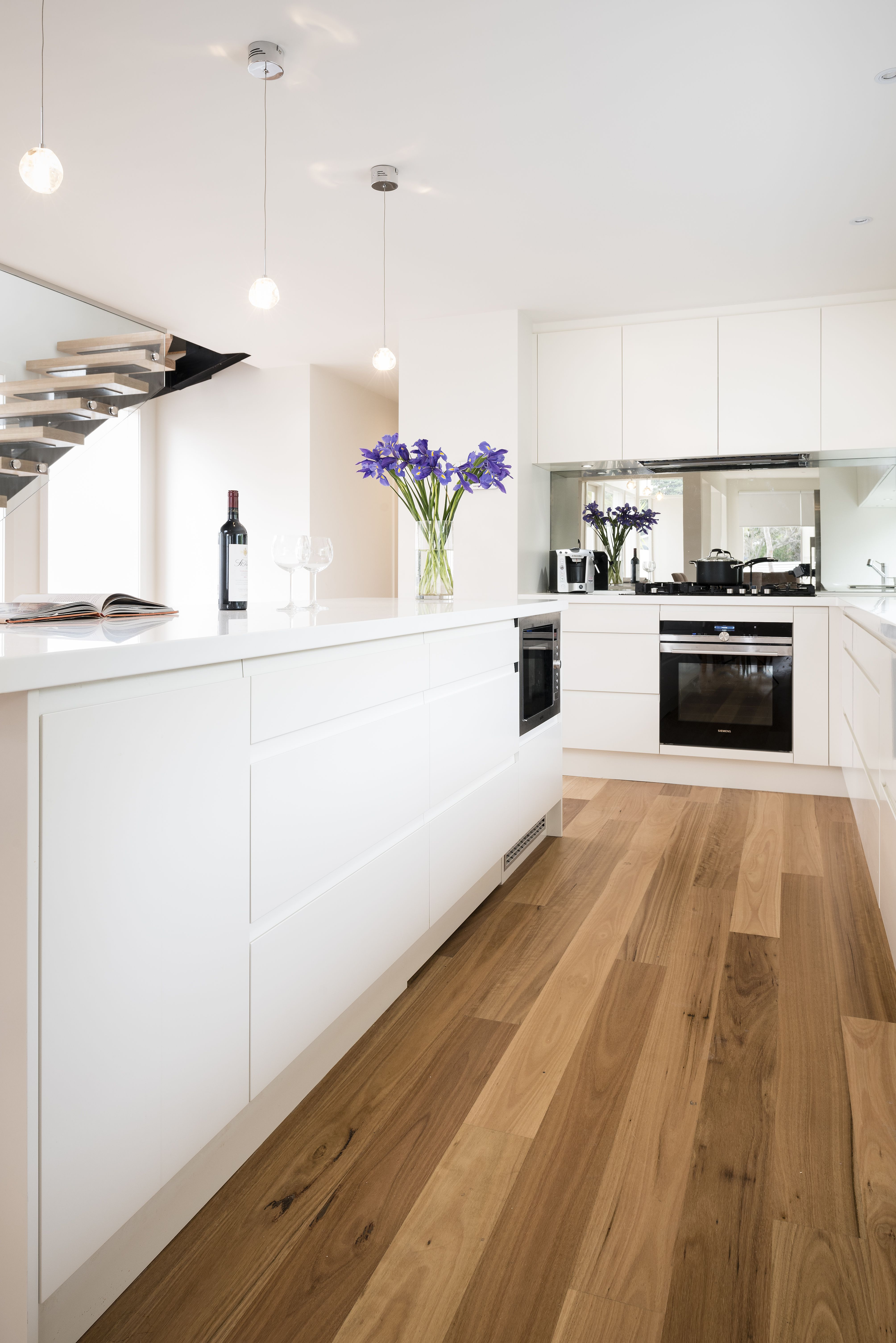 Simple Modern White Kitchen White Modern Kitchen Kitchen Renovation Design Galley Kitchen Layout