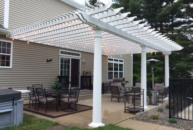Classic Premium Vinyl Pergola Attached Outdoor Pergola Vinyl Pergola Pergola Patio