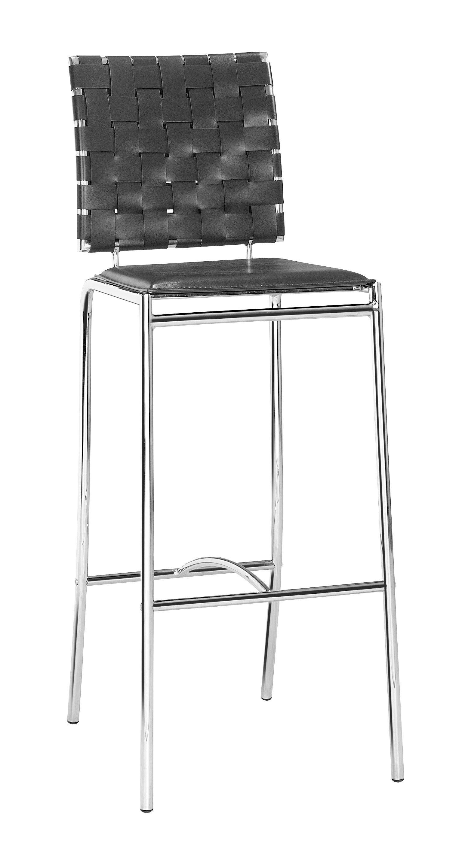 Fantastic Zuo Modern Criss Cross Modern Bar Stool Black Leatherette Creativecarmelina Interior Chair Design Creativecarmelinacom