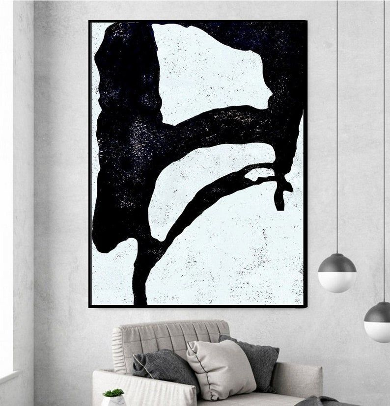 Contemporary Painting On Canvas Abstract Art On Canvas Etsy Minimalist Art Abstract Abstract Art Painting Abstract Canvas Art