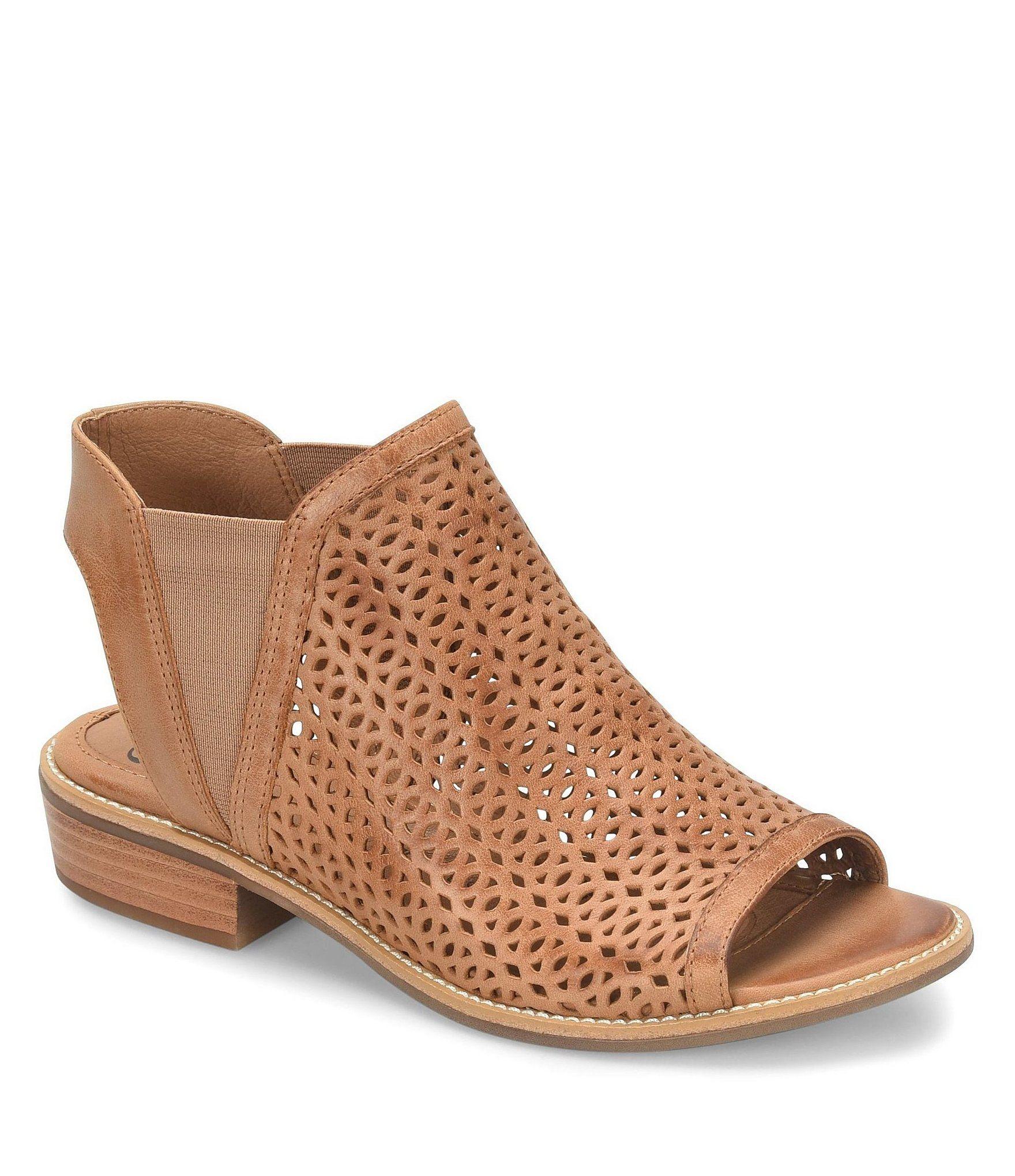 Sofft Nalda Leather Block Heel Sandals