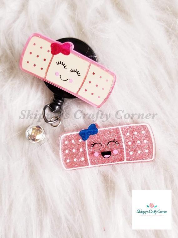 Bandaid Badge Reel Medical ID Holder Nurse Gift Interchangeable Badge Reel