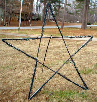 Diy Outdoor Christmas Yard Art 10 Foot Christmas Star Christmas Yard Art Outside Christmas Decorations Christmas Yard Decorations