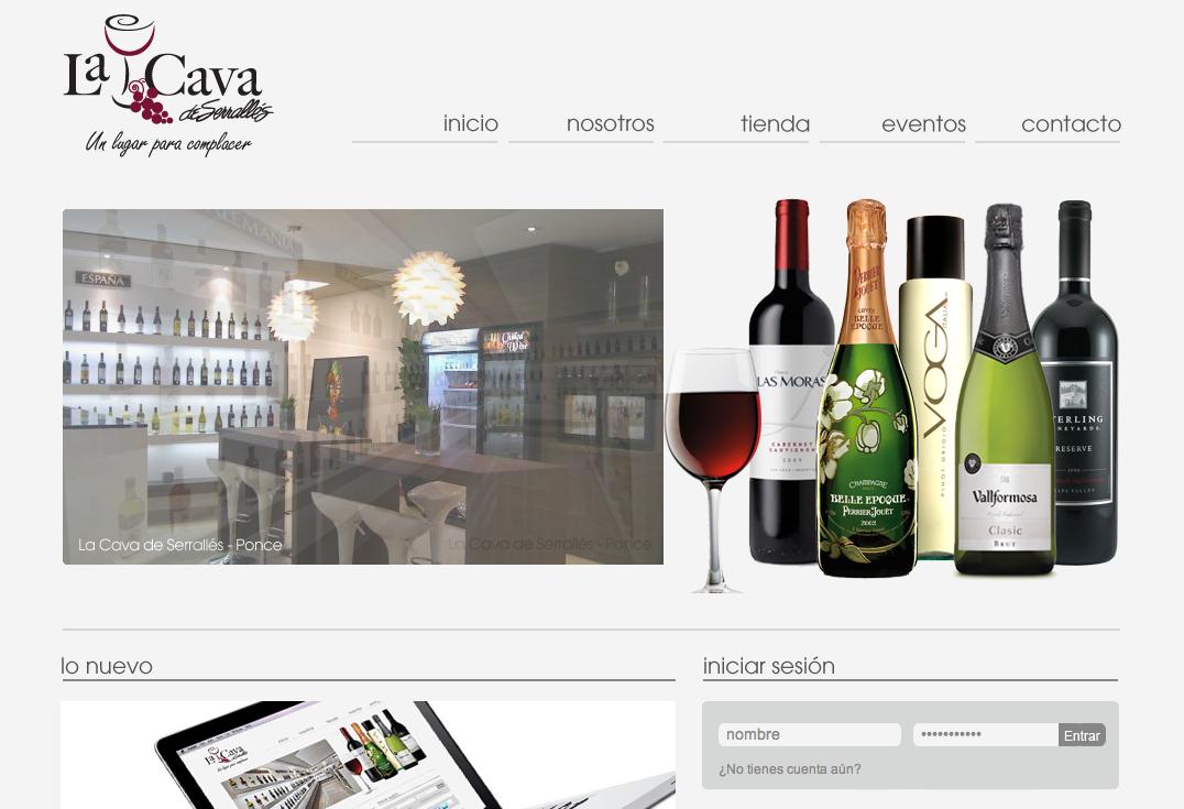 El nuevo portal de La Cava de Serrallés / The new La Cava de Serrallés website. www.lacavadeserralles.com