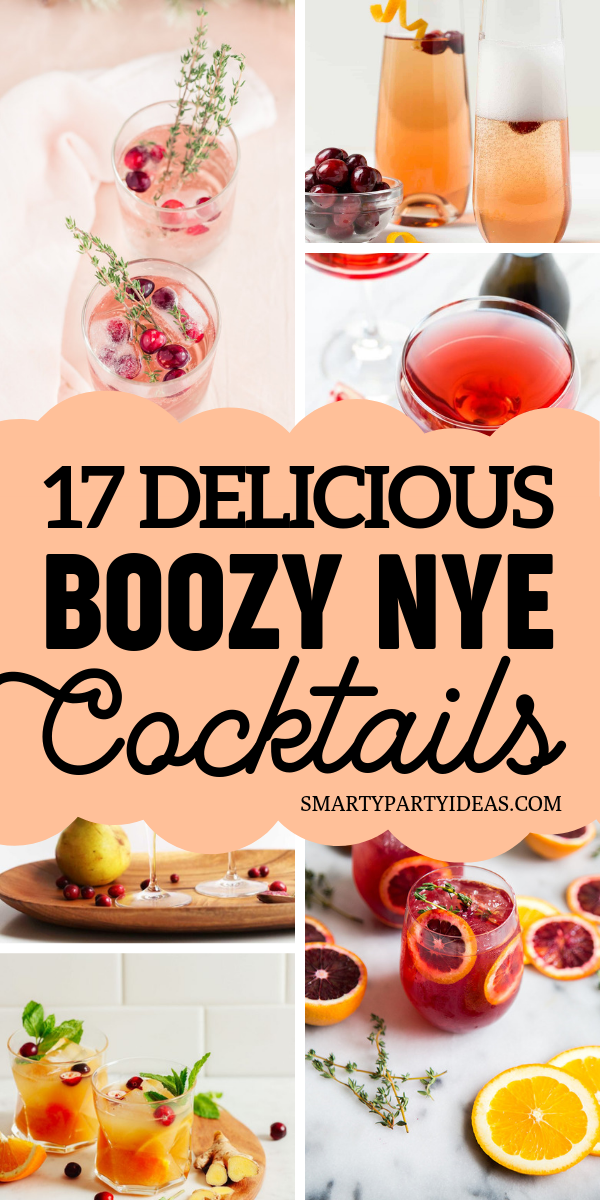 17 Delicious Boozy New Years Eve Cocktails - Smart Party Ideas