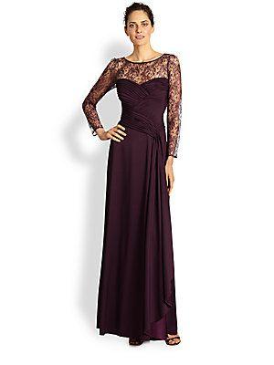 Tadashi Shoji Illusion Lace Gown Saks Fifth Avenue Likes