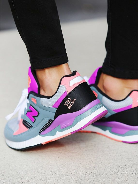 New Balance 530 Black Purple Pink   Shoes   Pinterest   Shoes ... 33b7b8bca4
