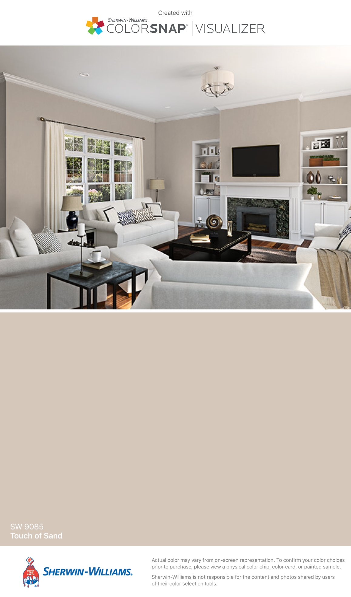 I Found This Color With ColorSnap® Visualizer For IPhone By  Sherwin Williams: Touch Of Sand (SW 9085).