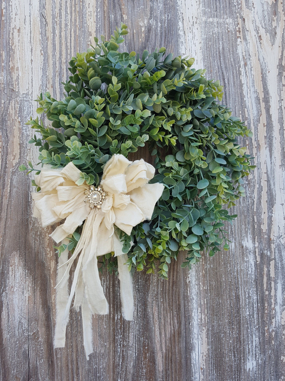 Photo of Farmhouse Wreath, Farmhouse front door wreath, Greenery Wreath, Year Round wreath, Farmhouse decor
