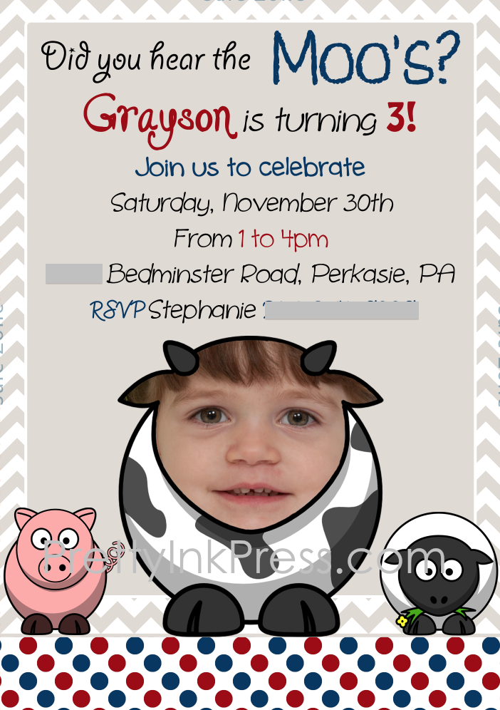 Barn Themed Birthday Party Invitation   Birthday party ...