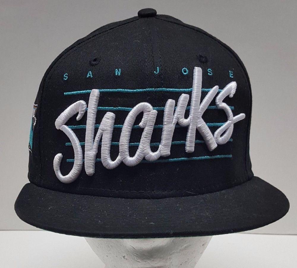 7cecce6f39c New Era Hat NHL Fitted Black Cap San Jose Sharks 59FIFTY Snapback Logo OSFM   NewEra  SanJoseSharks