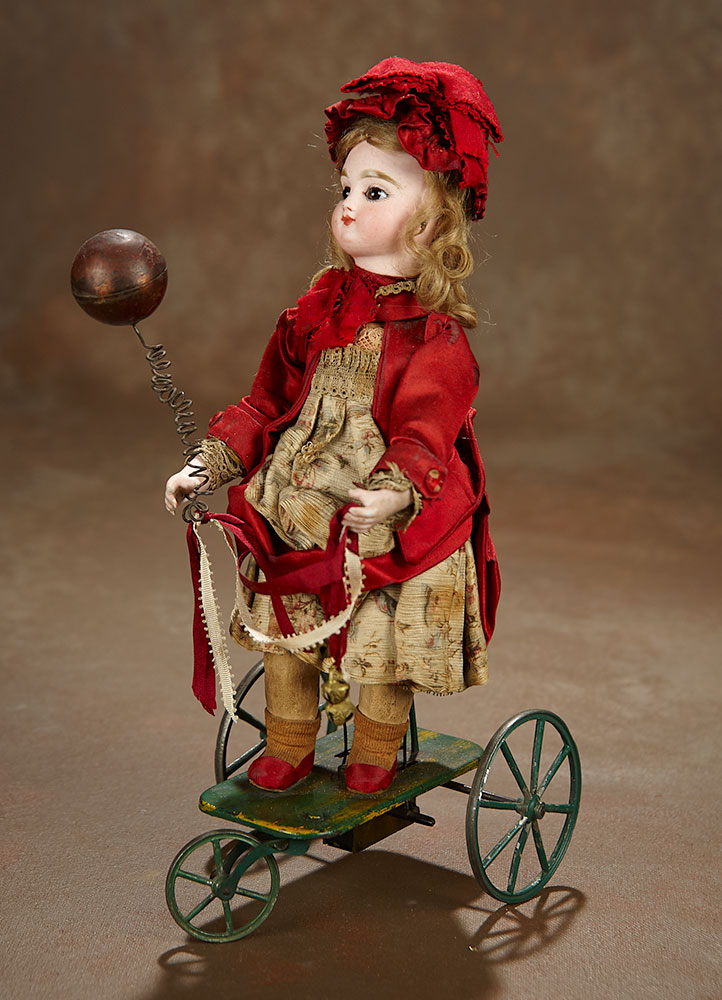 """French Mechanical Toy """"Little Girl with Toy Ball"""" by Vichy ..."""