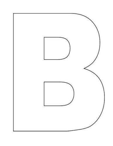 letter b template here s a simple alphabet letter b template for this 37559