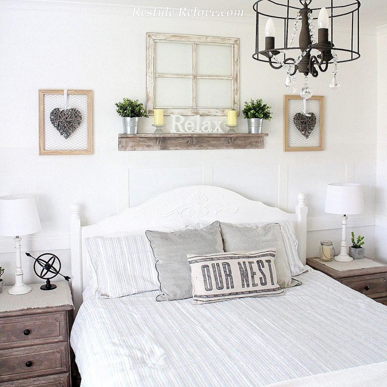 40 Beautiful Vintage Farmhouse Bedroom Decorating Ideas ...