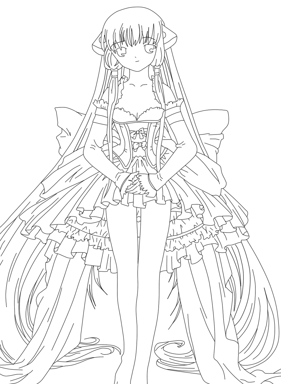 Chobits Anime Coloring Pages Chii Colouring Pages Page 2