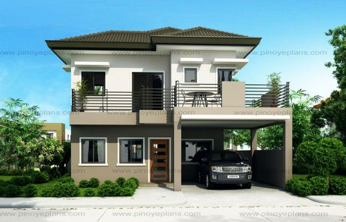 Sheryl Four Bedroom Two Story House Design Pinoy Eplans Philippines House Design Best Modern House Design 2 Storey House Design