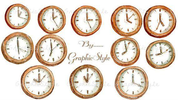 Analogclock Analog Clock Clipart Clock Clipart Clock Watercolor