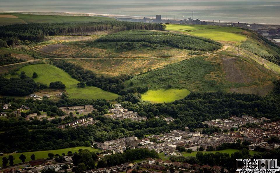 Cwmafan Port Talbot, from the top of Mynydd Y Foel