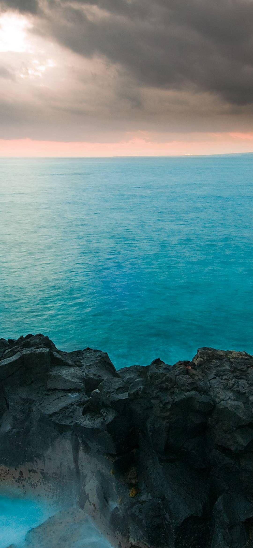 Island Of Hawaii 1080x2340 Wallpaper Iphone Sunset Beach