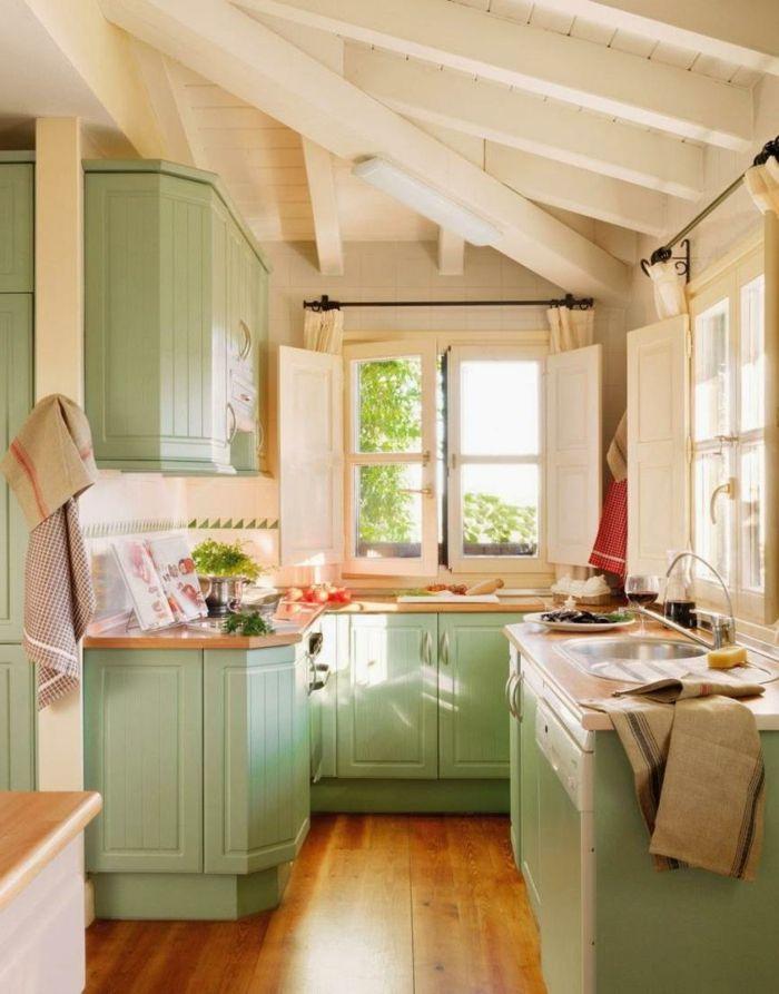 Cocinas rusticas de obra cocina peque a techo con vigas - Diseno cocinas rusticas ...