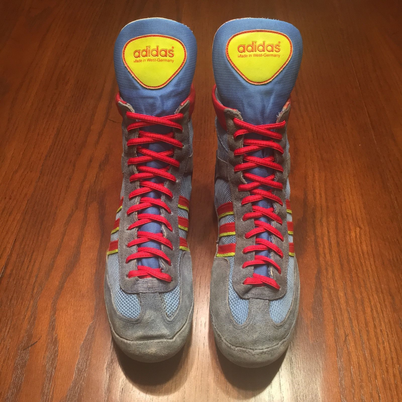 RARE Adidas West German Blue '88 Combat Speed Wrestling Shoes ...