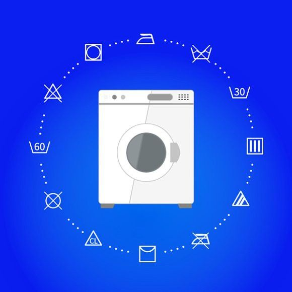Wash Machine With Laundry Icons With Images Laundry Icons